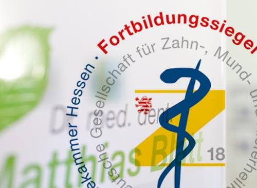 Wir führen das Fortbildungssiegel der Landeszahnärztekammer Hessen
