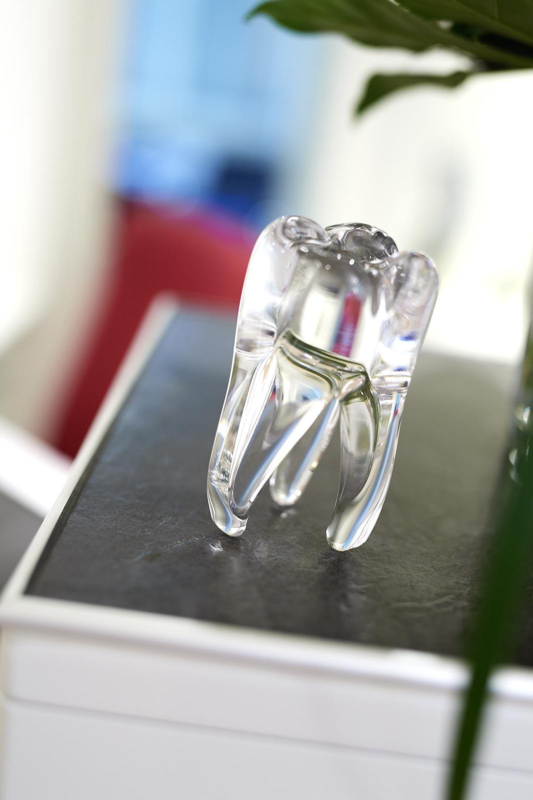 Dekoration an der Anmeldung unserer Zahnarztpraxis